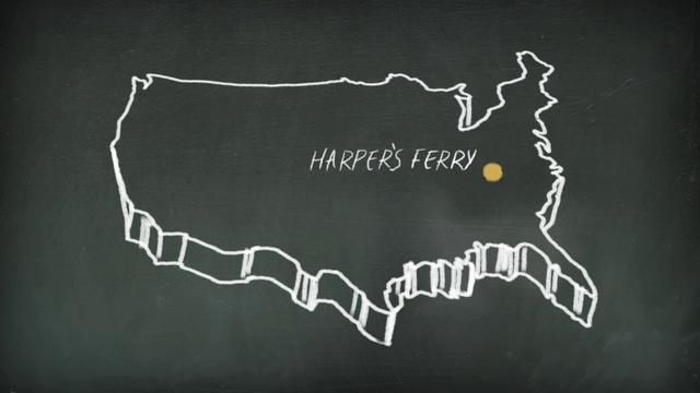 """History Channel-""""Chalk Talk"""" Series-John Brown's Raid by Colin Evoy Sebestyen. Camp Creative concepted and produced a series of animated shorts for History Channel's online presence, History.com with Cobra Creative brought on for design."""