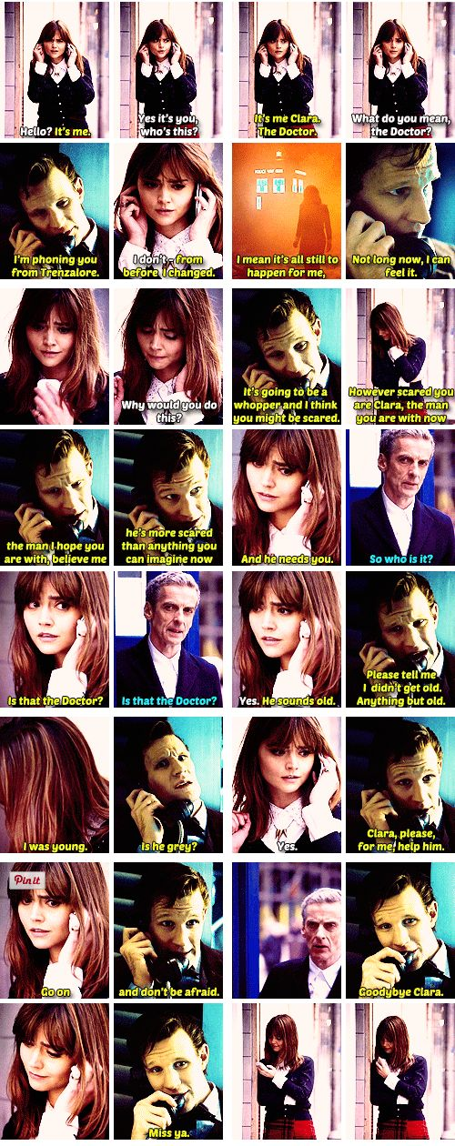 """The Phone Call (""""You better get that -- it might be your boyfriend."""") *cue the tears*. Doctor Who"""