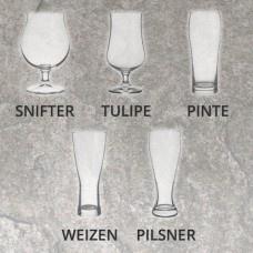 Ensemble de verres de dégustation, 8 verres