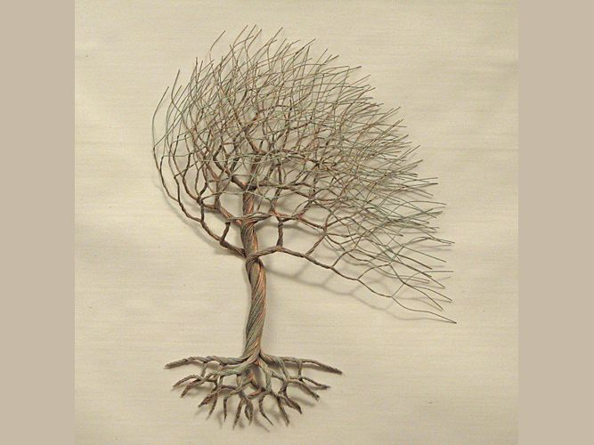 Unique wire tree sculpture by rob hagarty found in private and corporate collections worldwide