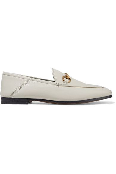 Gucci - Horsebit-detailed Collapsible-heel Leather Loafers - Off-white