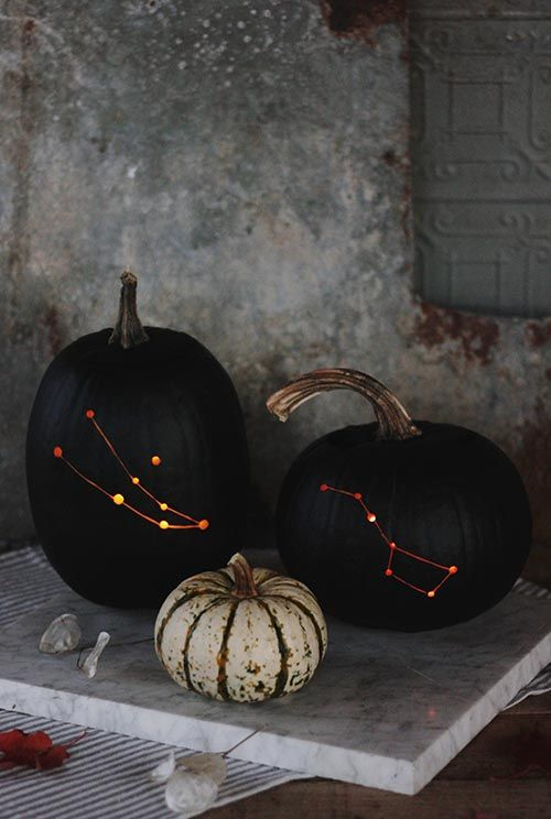 DIY Constellation Pumpkin by The MerryThought DIY | Design Sponge