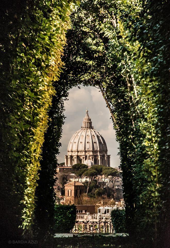 View of St. Peter's through the Cavalieri di Malta Keyhole, Vatican