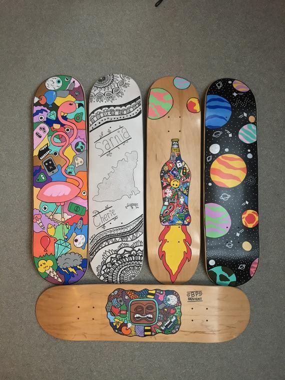 Personalized Skateboard Deck Etsy In 2020 Skateboard Art Design Painted Skateboard Skateboard Photography