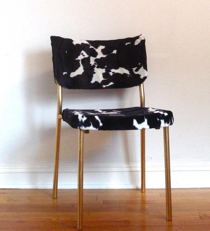 IKEA chair makeover fabric decoupage