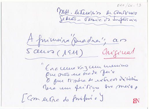 Era uma vez um menino :: Rómulo de Carvalho :: Biblioteca Nacional