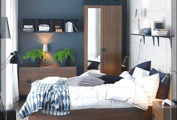Great Wooden Furniture Bedroom And Grey Wall Paint In Small Spaces