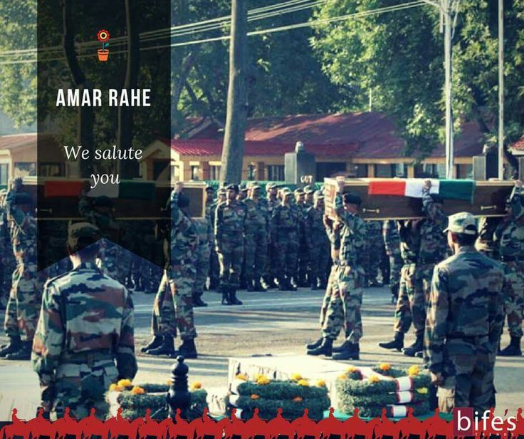 "Our hearty condolence  to the families of those brave soldiers . Even though  the words will not be enough to sooth the sad demise, our prayers  along with whole nation are with you.   ""We salute the INDIAN ARMY"""