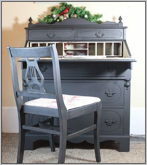 Painted Desks 61 best images about painted secretarys' desks on pinterest | blue