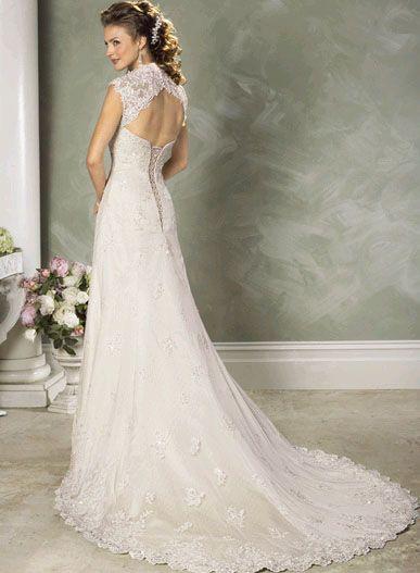 Davids Bridal Keyhole Back Dress