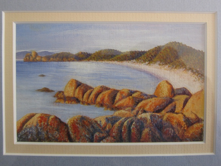 Bay of fires (miniature, oil)