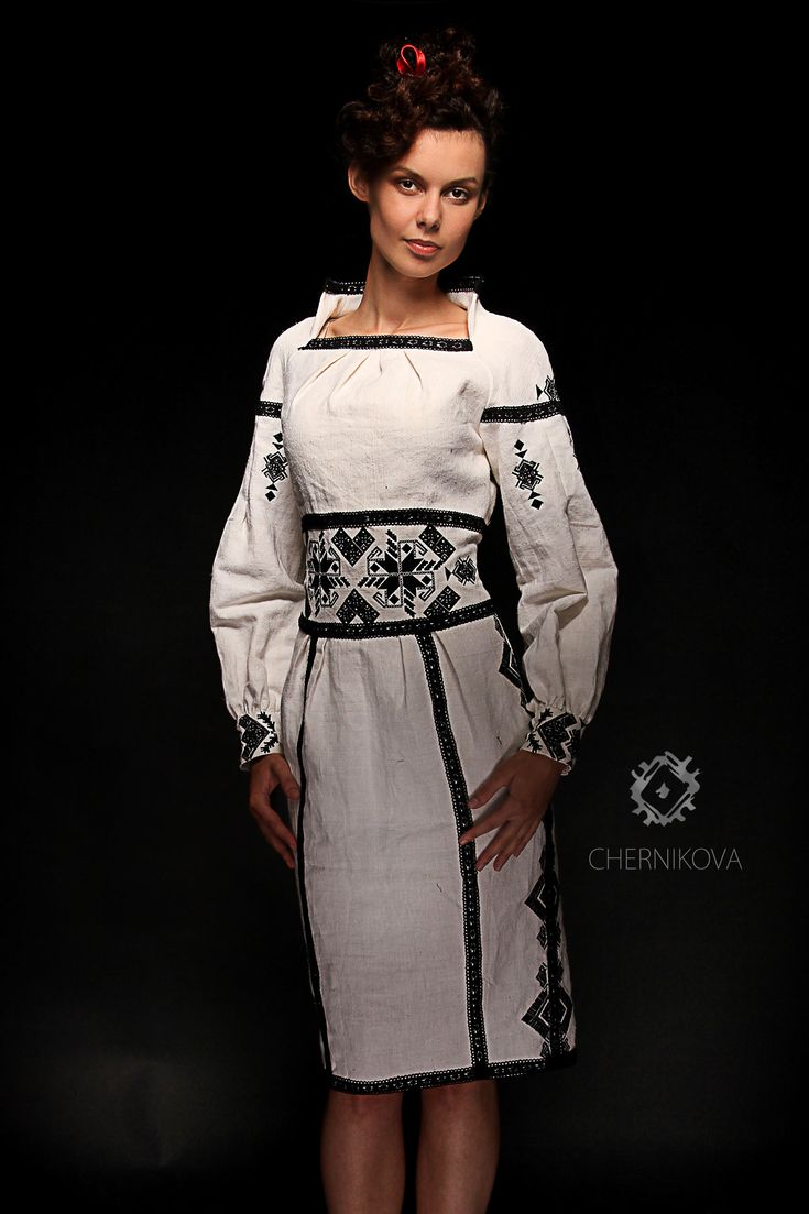 Ukrainian beauty folk fashion Chernikova