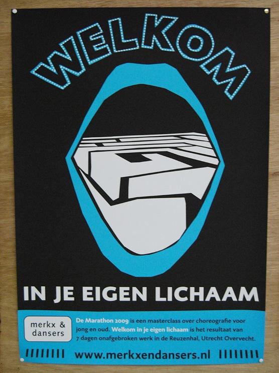 Poster voor de voorstelling 'Welkom in je eigen Lichaam'.