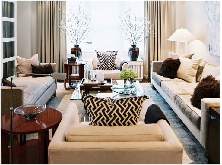 Elegant Living Room Rich Contrast Pattern Texture