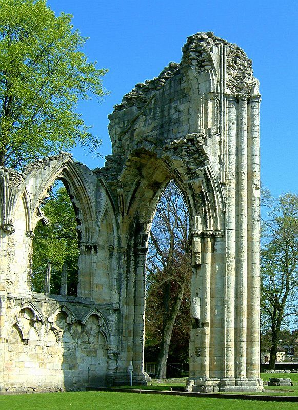 St Mary's Abbey founded 1088 @ York Museum Gardens, York, England Copyright: Malcolm Lee