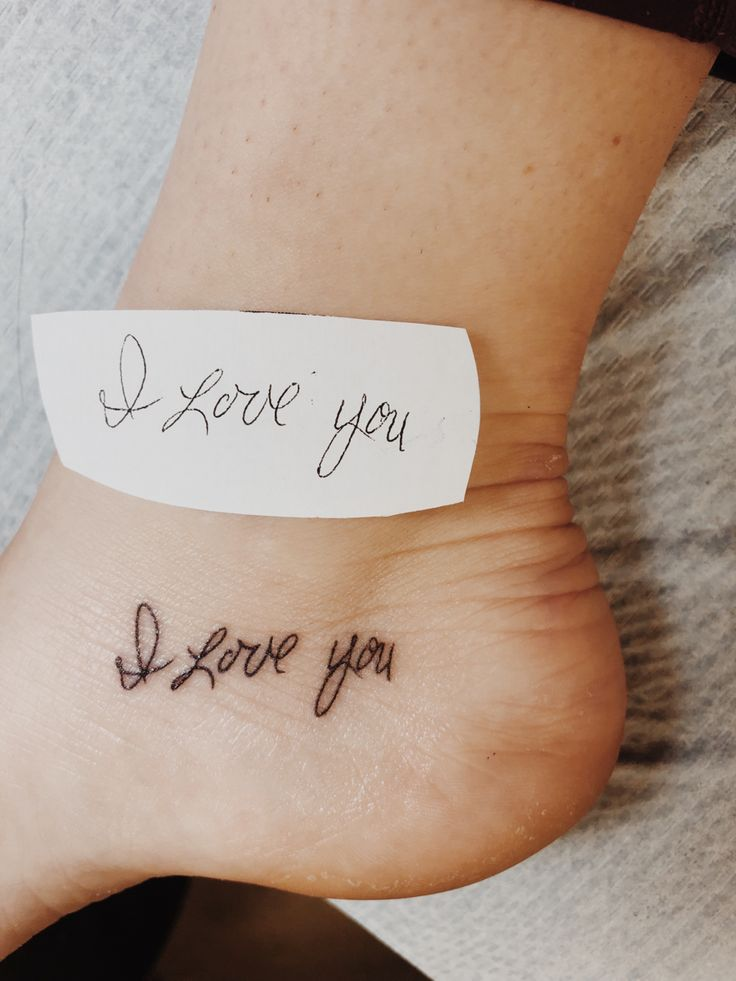 26++ Best I love you more foot tattoo ideas
