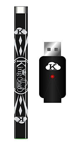 King Cloud Glossy Black Rapid Charge Variable Voltage Slim 510 Pen Set