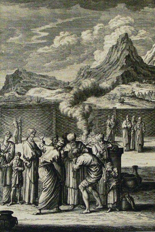 The Phillip Medhurst Picture Torah 537. Leprosy removed. Leviticus cap 13 vv 29-37. Heuman