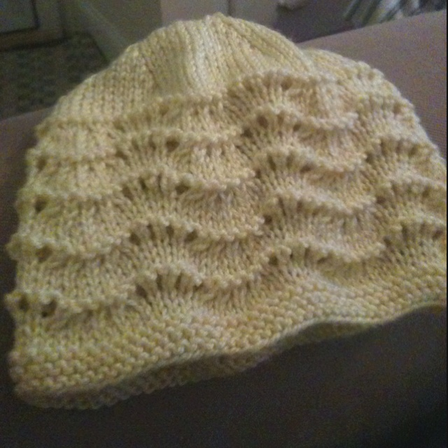 Knitting Pattern For Baby Summer Hats : Knit baby hat. Bernard pattern. Took about 2-3 hours. Baby/Kids Crafts Pi...