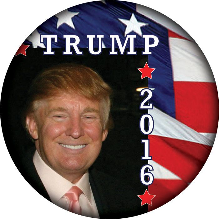 "DONALD TRUMP 3"" CAMPAIGN Pin Back Button for Presidential Candidate 2016 by Badgelady117 on Etsy"