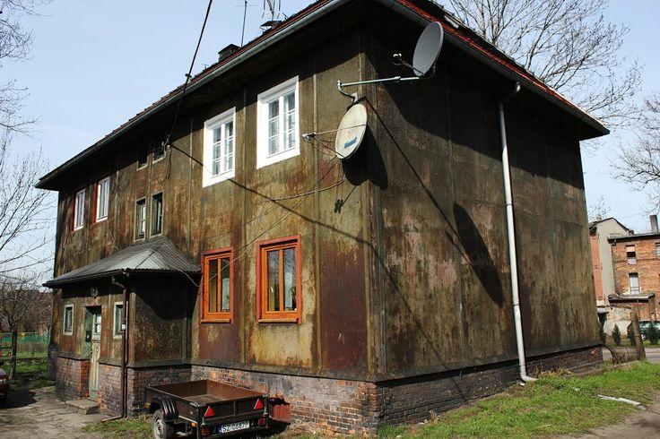 Żelazny dom-eksperymentalny budynek o stalowych ścianach wybudowany w 1927 r. Budynek postawiono w ciągu 26 dni. Zabrze,Śląskie.Polska.