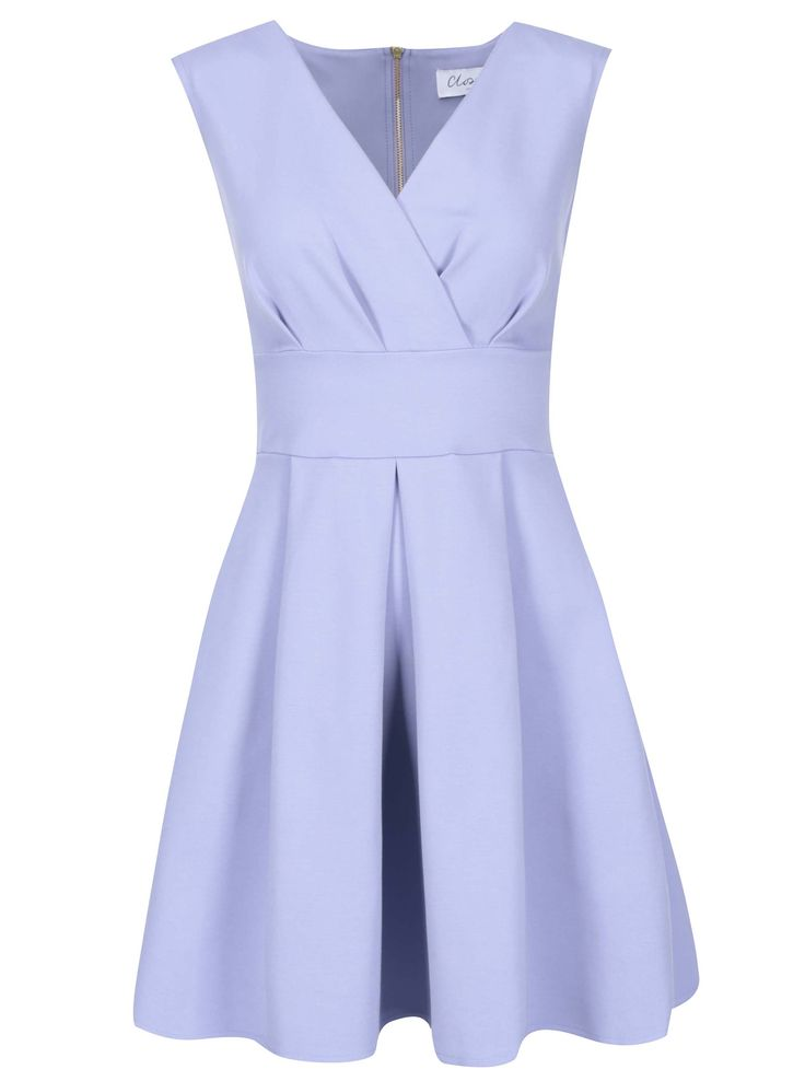 Rochie Closet cu fustă cu croială A - albastru deschis