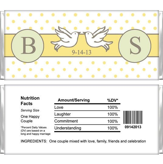 Personalized Candy Bar Wrappers  Wedding  by SoWrappedUpFavors, $13.50