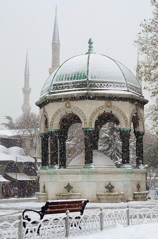 German Fountain, on a winter's day ... Sultanahmet Square - ISTANBUL