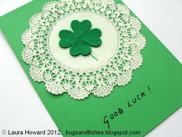 DIY Lucky Four-leaf Clover CardFour Leaf Clovers, Cards Http Www Ecrafty Com, Fourleaf Clovers, Bibs, Lucky Fourleaf, Diy Lucky, Cards Httpwwwecraftycom, Lucky Four Leaf, Clovers Cards