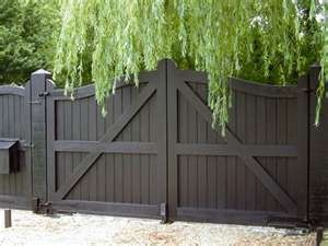 wood double gate