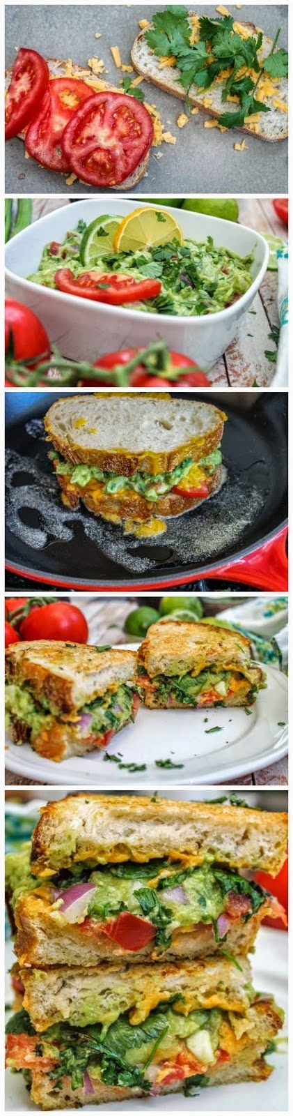 Guacamole Grilled Cheese Sandwich | Food Blog