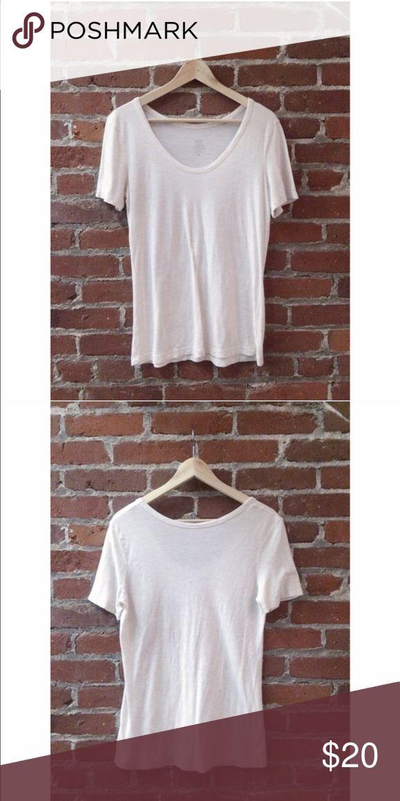 Pale Beige Tee Pale beige tee shirt | Swoop neck | Baggy fit | Short Sleeve Mossimo Supply Co. Tops Tees - Short Sleeve