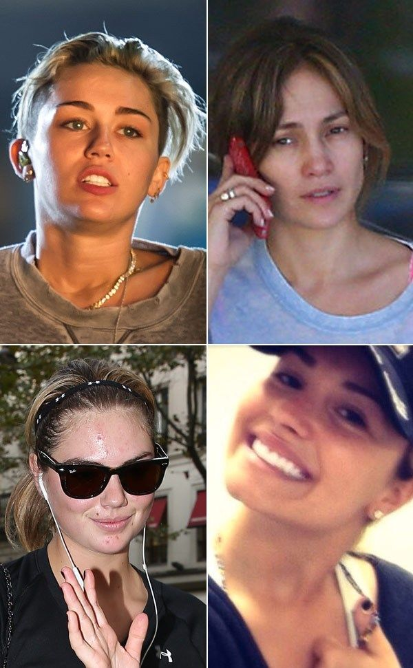 Miley, Demi & More Stars Without Makeup -- Celebrities are more like us without makeup, and when they go out without any, they show that we can be beautiful just in our own skin.