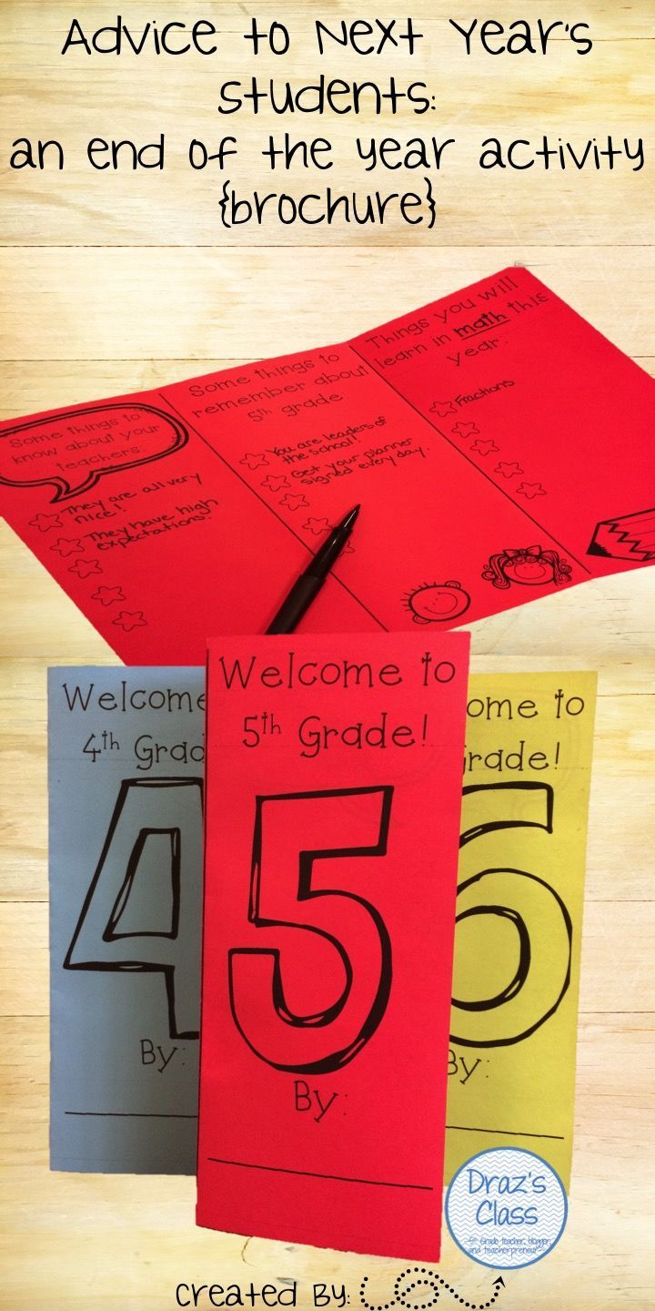 Students give advice and insight to your new class on all that they will learn that year! Perfect last week of school activity for 4th-6th graders. Click to see on TpT!
