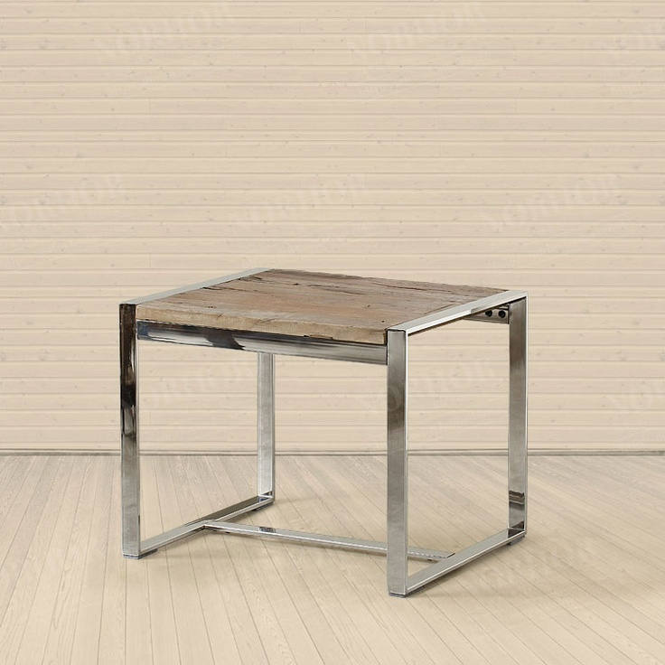 $418 Old Elm Stainless Steel Square Side Table/ Coffee Table  ZZKKO