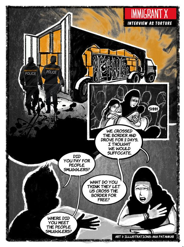 "Latest ""Immigrant X"" Comic Frames Asylum Interviews As Torture for immigrantx.org"