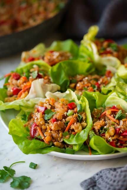 Asian+Lentil+Lettuce+Wraps