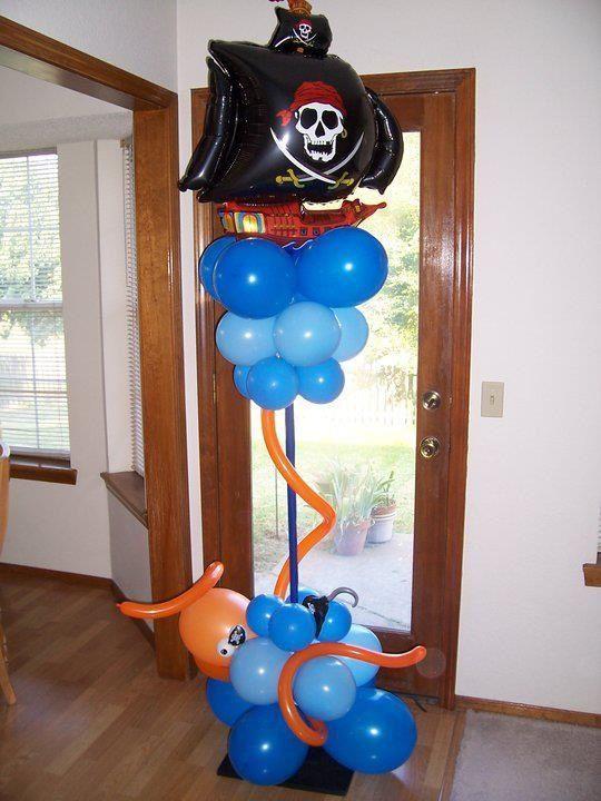 pirate balloon decorations - Google zoeken piraat