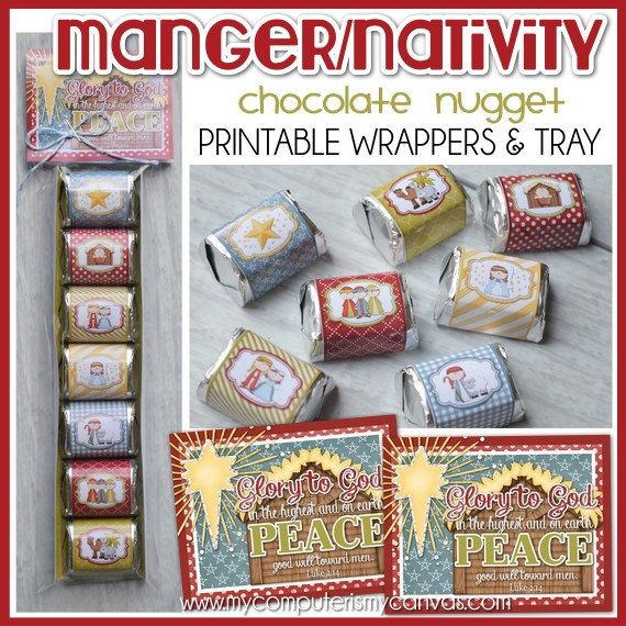 Time to spread some meaningful Christmas Cheer with these festive Nativity Nuggets! Whether its a small gift at a family party, a favor for