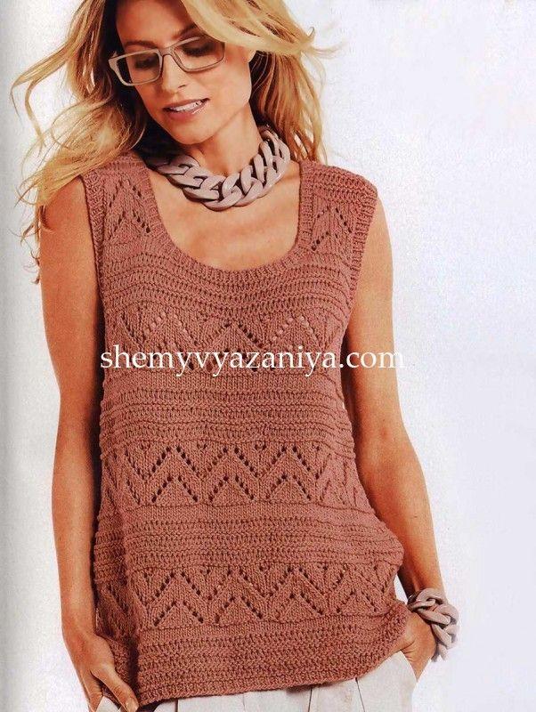 http://shemyvyazaniya.com/page/top-azhurnym-uzorom-a-obraznogo-silueta