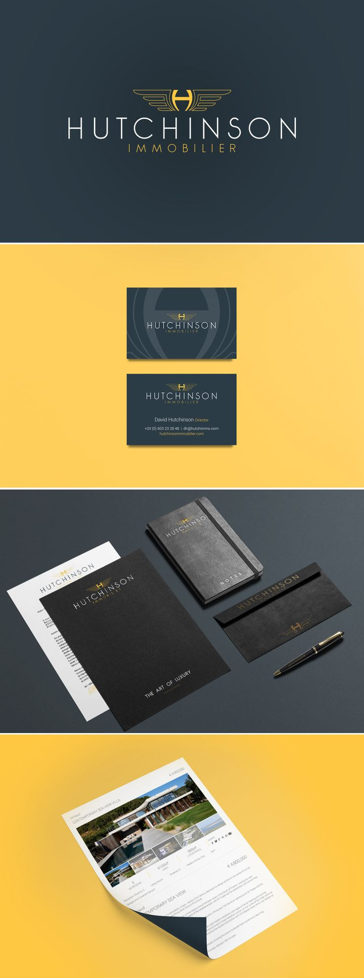 A branding and stationary project that we have designed for an exclusive luxury real estate agents in St Tropez   #Stationary #Branding #BusinessCards #GraphicDesign #Studio