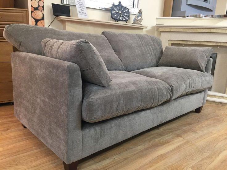 John Lewis Ikon Fabric Oatmeal Sofa Couches Set Large Medium