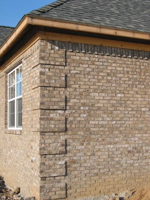 Corner Brick Detail And Soldiering For The Home