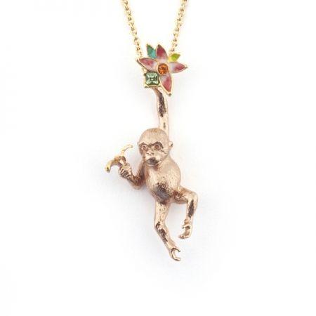 Orangutan Flower Pendant