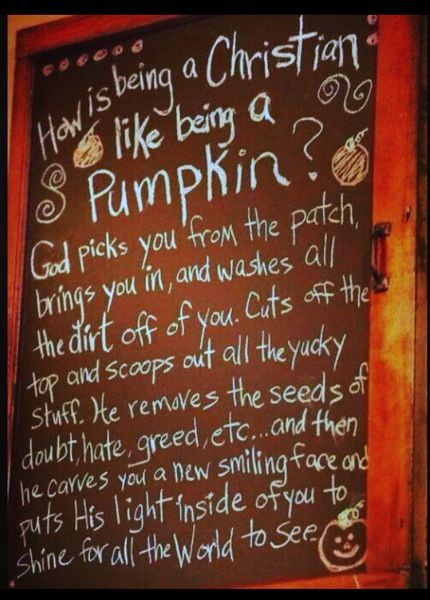 Inspiring Quote: How Being a Christians is like being a Pumpkin