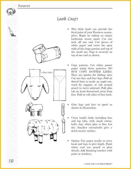 A family guide to the biblical holidays excerpt 01 for Passover crafts for sunday school
