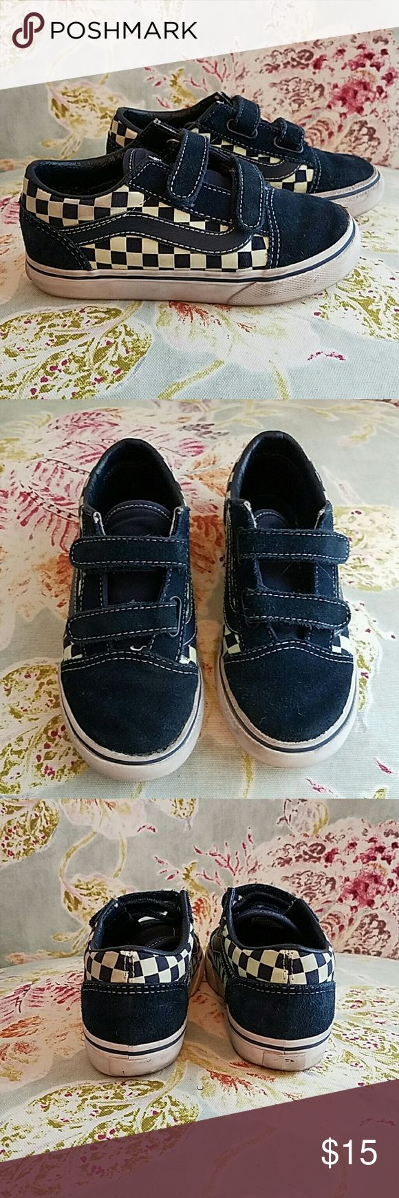 VANS FOR KIDS/TODDLERS These are sure to be a favorite with your little one! Cool, glow in the dark vans. Cool suede like upper material. Checkers on the side. Velcro for easy on and off. Vans Shoes Sneakers