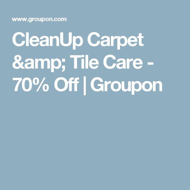 CleanUp Carpet & Tile Care - 70% Off | Groupon