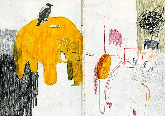 Julia Pott | #sketchbook #drawing | Elephants
