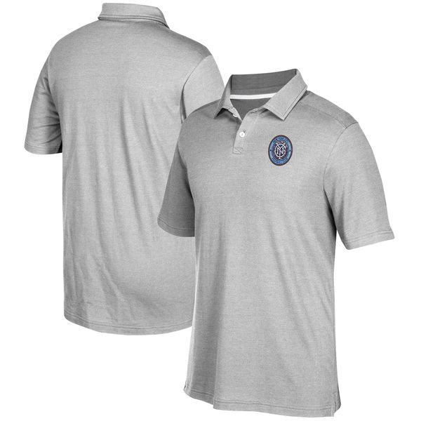 New York City FC adidas Team Logo Polo - Gray - $64.99